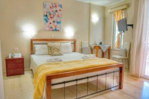 Villa Katerina studio interior view of the bed