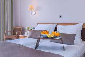 Porto Platanias Double Bedroom with sea view interior image