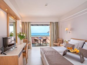 Porto Platanias Double Bedroom with sea view interior image
