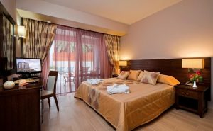 Two Bedroom Suite with private pool and Jacuzzi interior view of one of the master bedrooms