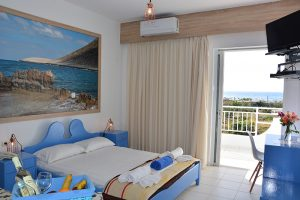 Blue Beach Two Bedrooms and Two Bathrooms apartment interior view of the master bedroom