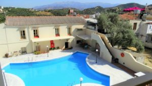 Orestis Hotel Cottage House extierior view of the pool